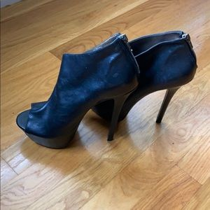 Steve Madden Soft Leather Booties w/ 6in Heel